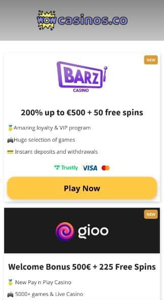 Stap 1 - Kies een van onze online casino's en registreer
